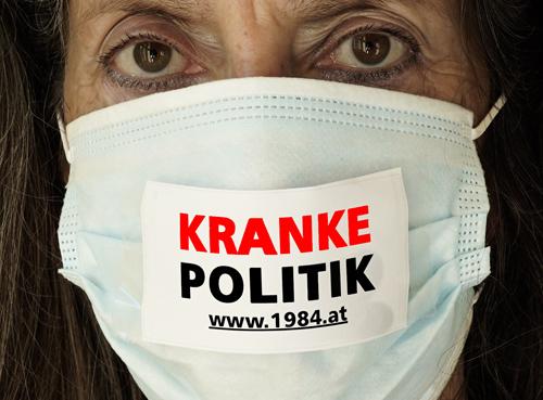 Individuelle Sprüche für die Mundschutz-Maske als Protest gegen Corona-Gesetzgebung