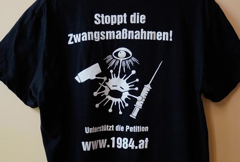 T-Shirt Corona-Massnahmen Protest und Widerstand Rückseite